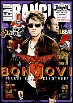 Michael Poulsen, Jon Bon Jovi - Headbang Magazine Cover [Turkey] (April 2013)
