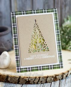 Houses Built of Cards: Merry Little Christmas Tree Shaker Card - SSS Believe Release