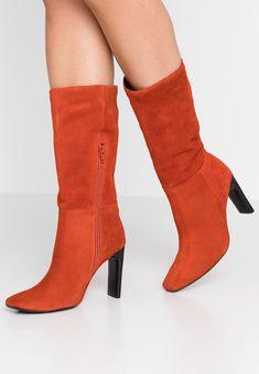 Bronx Bottes à talons hauts - rust - ZALANDO.FR Zalando Shoes, Knee Boots, Heeled Boots, Balmain, Booty, Ankle, Heels, Collection, Orange