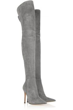 GIANVITO ROSSI Suede over-the-knee boots. I NEED!! :P maybe in brown...