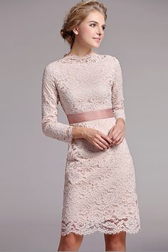 OASAP - Apricot Elegant Long Sleeves Dress - Street Fashion Store