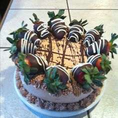 Hen House Chocolate Dipped Strawberry Dream Cake