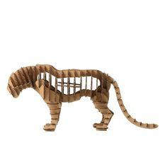 Paper Maker DIY 3D Puzzle Tiger Animal Model for Home Decoration (brown)