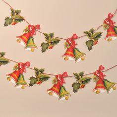 Garland – Holly and Bells - Friezes & Garlands - Mamelok Papercraft ...