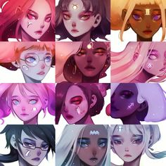Who's your favorite? ✨ - Sorry for the astrology spam; unintentional gradient when reorganized that I thought was pretty neat ^^ - #aries #taurus #gemini #cancer #leo #virgo #libra #scorpio #sagittarius #capricorn #aquarius #pisces
