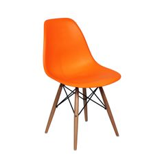 Mid-Century Slope Chair in Orange | dotandbo.com #DotandBoAutumn