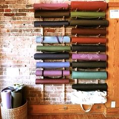 How cool is this yoga mat storage? very neat…