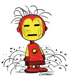 Marvel According to Peanuts: Pig Pen as Iron Man by Brad Campbell Snoopy Cartoon, Cartoon Tv, Cartoon Bodies, Snoopy Love, Snoopy And Woodstock, Snoopy Quotes, Peanuts Quotes, Pig Pen, Peanuts Snoopy