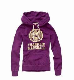 Franklin Marshall Hoodie Sweatshirt Purple223