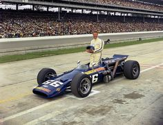 1969 Mark Donahue first Indy 500 Indy Car Racing, Indy Cars, Drag Racing, Vintage Sports Cars, Vintage Race Car, Vintage Auto, Old Hot Rods, Indianapolis Motor Speedway, Classic Race Cars