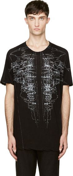 Julius: Black & White Graphic T-Shirt | SSENSE