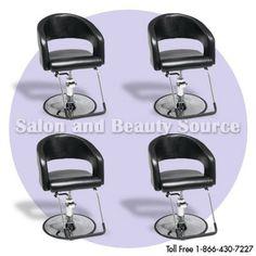set of 4 free shipping $999.52 Styling Chair Beauty Hair Salon Equipment Furniture SE4   eBay