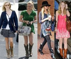 How to Wear Dresses with Cowboy Boots | Shoes | Pinterest | Cowboy ...