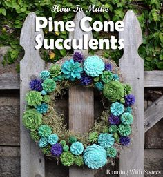 DIY Pine Cone Succulents - learn how to paint pine cones to look like succulents. Includes a video tutorial for painting pine cone succulents. Plus see a couple of our favorite DIY succulent projects!