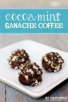 """Best Recipe EVER: Peppermint Mocha """"Hot Cocoa"""" Truffles *A personal winter staple when mixed with coffee. Better than Starbucks..."""