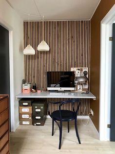 Wooden slat wall, wall panels & acoustic panels at Wooden Wall Panels, Slat Wall, Wood Panel Walls, Wooden Slats, Wood Paneling, Wall Panelling, Acoustic Panels, Inspiration Wall, Wall Design
