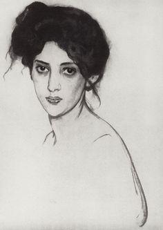 Portrait of Izabella Grunberg, 1910-1. Valentin Serov.Via Olga Krtiskaya