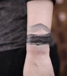 Black ink wrist tattoo - 50 Eye-Catching Wrist Tattoo Ideas <3 <3