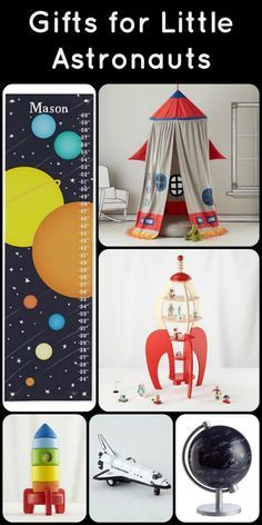 Gifts for Kids Who Love Outer Space....perfect for little astronauts - MAKE THE TENT FOR THE PLAYROOM AND HAVE THE PLANETS HANGING AROUND IT