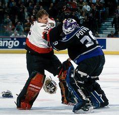 Jani Hurme vs. Felix Potvin - December 20, 2001 goalie fightttt