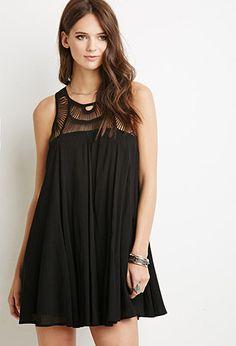 Macramé Trapeze Dress | Forever 21 - 2000112292