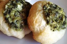Crescent roll appetizers: Spinach Thumbprints.