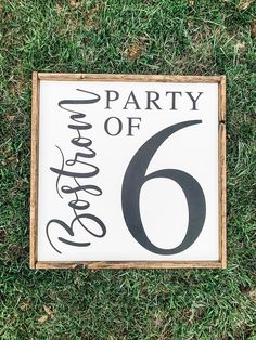 Excited to share this item from my shop: Party of Number Sign, Family Size Number Sign, Gallery Wall Sign, Flashcard Sign, Wood Number Sign Come Little Children, Pregnancy Signs, Handmade Signs, Family Name Signs, Halloween Signs, Love Signs, New Sign, Wall Signs, How To Look Better