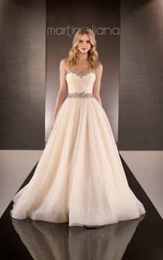 To see more fabulous wedding dresses: http://www.modwedding.com/2014/11/21/editors-pick-flattering-wedding-dresses/ #wedding #weddings #wedding_dress #martina_liana