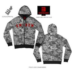 Eminem - Mens Camo Hooded Sweater In Grey Camo, Size: X-Large, Color: Grey Camo Officially Licensed: Brand New Mens S/S T-shirt, Hats, Accessories, Collectibles, & Memorabilia..  #Unknown #Apparel
