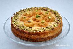 Mediterranean Cheesecake with Pistachio, Halva and Honey   Sernik śródziemnomorski - pistacje, chałwa i miód (in Polish)