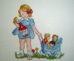 Risultato immagini per veronique enginger grille Easy Cross Stitch Patterns, Cross Stitch For Kids, Simple Cross Stitch, Cross Stitch Baby, Cross Stitch Designs, Cross Stitching, Cross Stitch Embroidery, Embroidery Patterns, Crochet Flower Tutorial