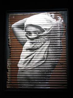 street art.  JR Artist (?)