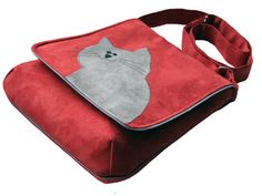Eco Suede Vegan Bag Flap Cover Bag Adjustable Strap Crazy by ifONA