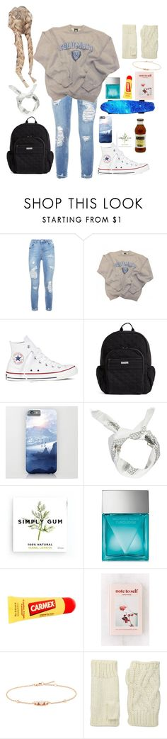 """""""School"""" by haley-hetrick on Polyvore featuring Columbia, Converse, Vera Bradley, Boohoo, Simply Gum, Michael Kors, Carmex, Urban Outfitters, LC COLLECTION and San Diego Hat Co."""