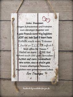 Liebes Brautpaar mit persönlichen Namen (Midi)