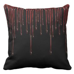 Shop Blood Drips Throw Pillow created by BlueRose_Design. Diy Pillows, Decorative Throw Pillows, Cotton Pillow, Halloween Themes, Decorating Your Home, Colorful Backgrounds, Blood, Trending Outfits, Unique Jewelry