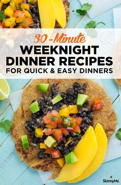 30-Minute Weeknight Dinner Recipes For Quick & Easy Dinners - Cooking doesn't have to be time consuming! You can whip up healthy and yummy meals in record time, even on the busiest of nights. These dinners can be made in 30 minutes or less, from prep to plating. #30minutemeals #quickrecipes #easyrecipes #fastrecipes #weeknightrecipes #healthyfood #dinnerrecipes #30minuteorless