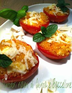 Cucinando tra le nuvole: Pomodori ripieni di Quinoa e Baccellone