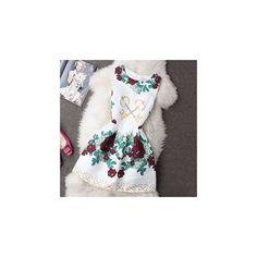 Sleeveless Printed A-Line Dress (995 DOP) ❤ liked on Polyvore featuring dresses, women, sleeveless a line dress, multi colored dress, a line dress, multicolor dress and no sleeve dress