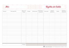 Plantilla de Registro de Gastos. Descargable Gratis. #BudgetMaster