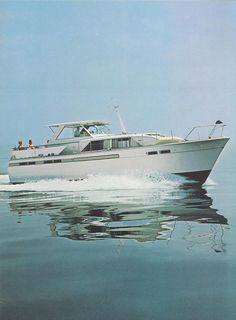 1968 47' Chris Craft Commander. The Commander was Chris Craft's fiberglass hulled line of motor yachts. From ChrisCraftCommander.com