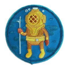 """Adventuring+can+take+you+anywhere.+Now+there's+a+patch+to+go+with+you+when+it+sends+you+underwater.  3x3""""+embroidered+patch+with+iron-on+backing.+Limited+supply,+this+patch+will+be+reprinted+one+more+time+and+then+retired.+  Follow+me+on+Instagram+@ariegertwatersart+for+new+products+and+proje..."""