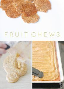 Homemade fruit chews only takes two ingredients - healthy and the kids love 'em!