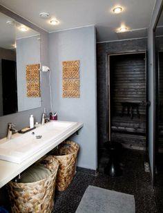 Ah, the bathroom! Spa, Design Inspiration, Interior Design, Mirror, Bathroom, Nice, House, Furniture, Ideas