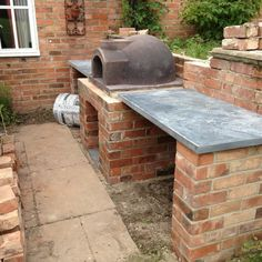 brick pizza oven outdoor Primo Michael Stevenson - The Stone Bake Oven Company Brick Oven Outdoor, Brick Bbq, Outdoor Kitchen Patio, Pizza Oven Outdoor, Outdoor Kitchen Design, Oven Diy, Diy Pizza Oven, Pizza Oven Kits, Pizza Ovens