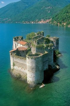 Cannero castle on Lake Maggiore, Lombardy, Italy