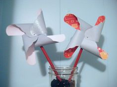 Cricut-made pinwheels add the perfect pop of fun to any warm weather wedding.
