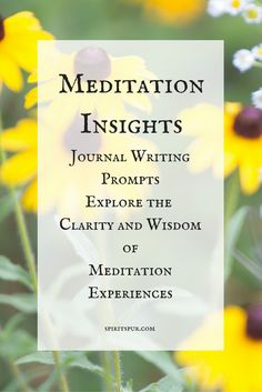 Writing about meditation