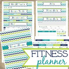 Printable Fitness Planner I'm excited to share that my Etsy printable family grew by one last night, and our newest bouncing baby is ready to help you get healthy. Today only, I'm giving you,. Health Planner, Fitness Planner, Exercise Planner, Fitness Binder, Fitness Tracker, Fitness Goals, Health Fitness, Group Fitness, Fitness Quotes
