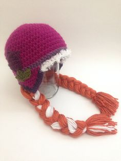 I'm gonna have to make this and an Elsa one... Disney's Frozen Anna crochet hat ~ Toddler-Youth on Etsy, $25.00